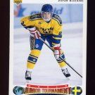 1992-93 Upper Deck Hockey #224 Stefan Klockare RC - Sweden