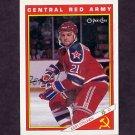 1991-92 O-Pee-Chee Hockey Inserts #26R Igor Stelnov - Central Red Army