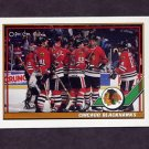 1991-92 O-Pee-Chee Hockey #430 Chicago Blackhawks Team