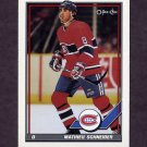 1991-92 O-Pee-Chee Hockey #392 Mathieu Schneider - Montreal Canadiens