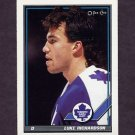 1991-92 O-Pee-Chee Hockey #351 Luke Richardson - Toronto Maple Leafs