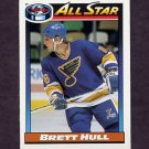 1991-92 O-Pee-Chee Hockey #259 Brett Hull AS - St. Louis Blues