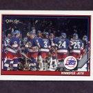 1991-92 O-Pee-Chee Hockey #158 Winnipeg Jets Team