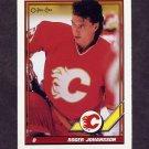 1991-92 O-Pee-Chee Hockey #053 Roger Johansson -  Calgary Flames