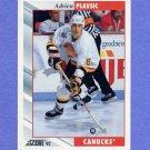 1992-93 Score Hockey #531 Adrien Plavsic - Vancouver Canucks
