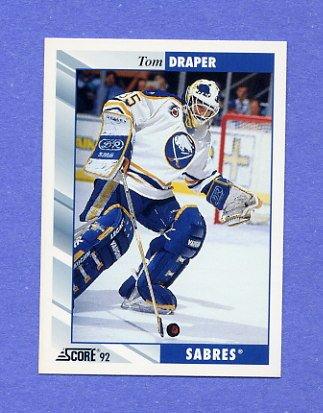 1992-93 Score Hockey #530 Tom Draper - Buffalo Sabres