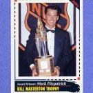 1992-93 Score Hockey #526 Mark Fitzpatrick AW - New York Islanders