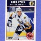 1992-93 Score Hockey #483 Gord Hynes - Boston Bruins