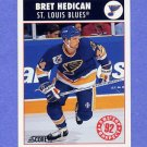 1992-93 Score Hockey #471 Bret Hedican RC - St. Louis Blues