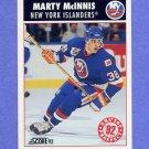 1992-93 Score Hockey #465 Marty McInnis - New York Islanders