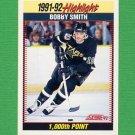 1992-93 Score Hockey #446 Bobby Smith SH - Minnesota North Stars