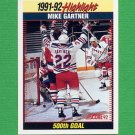 1992-93 Score Hockey #443 Mike Gartner SH - New York Rangers