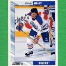 1992-93 Score Hockey #370 David Maley - Edmonton Oilers