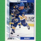 1992-93 Score Hockey #365 Ron Wilson - St. Louis Blues