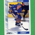 1992-93 Score Hockey #358 Grant Ledyard - Buffalo Sabres