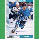 1992-93 Score Hockey #343 Brian Lawton - San Jose Sharks