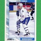 1992-93 Score Hockey #342 John Tonelli - Quebec Nordiques