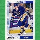 1992-93 Score Hockey #327 Rich Sutter - St. Louis Blues