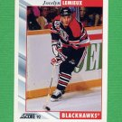 1992-93 Score Hockey #309 Jocelyn Lemieux - Chicago Blackhawks