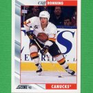 1992-93 Score Hockey #254 Cliff Ronning - Vancouver Canucks