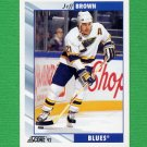 1992-93 Score Hockey #220 Jeff Brown - St. Louis Blues