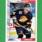1992-93 Score Hockey #212 Dave Babych - Vancouver Canucks