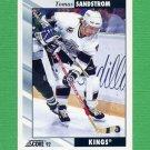 1992-93 Score Hockey #199 Tomas Sandstrom - Los Angeles Kings