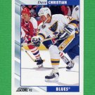 1992-93 Score Hockey #198 Dave Christian - St. Louis Blues