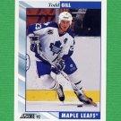 1992-93 Score Hockey #196 Todd Gill - Toronto Maple Leafs