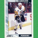 1992-93 Score Hockey #195 Kjell Samuelsson - Pittsburgh Penguins