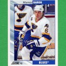 1992-93 Score Hockey #176 Murray Baron - St. Louis Blues