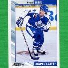 1992-93 Score Hockey #174 Peter Zezel - Toronto Maple Leafs
