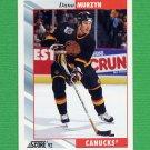 1992-93 Score Hockey #168 Dana Murzyn - Vancouver Canucks