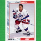 1992-93 Score Hockey #167 Randy Carlyle - Winnipeg Jets