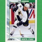 1992-93 Score Hockey #161 Jim Johnson - Minnesota North Stars