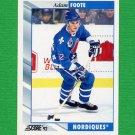 1992-93 Score Hockey #131 Adam Foote - Quebec Nordiques