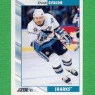 1992-93 Score Hockey #103 Dean Evason - San Jose Sharks
