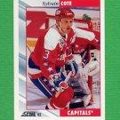 1992-93 Score Hockey #078 Sylvain Cote - Washington Capitals