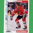 1992-93 Score Hockey #068 Keith Brown - Chicago Blackhawks