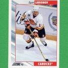 1992-93 Score Hockey #058 Igor Larionov - Vancouver Canucks