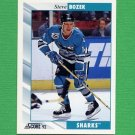 1992-93 Score Hockey #037 Steve Bozek - San Jose Sharks