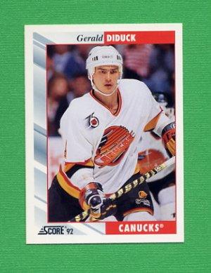 1992-93 Score Hockey #034 Gerald Diduck - Vancouver Canucks