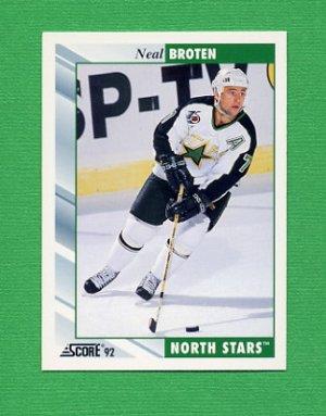 1992-93 Score Hockey #032 Neal Broten - Minnesota North Stars