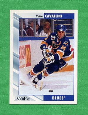 1992-93 Score Hockey #022 Paul Cavallini - St. Louis Blues