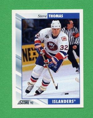 1992-93 Score Hockey #012 Steve Thomas - New York Islanders