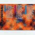 1995 Fleer Football #399 Checklist Card
