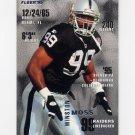 1995 Fleer Football #196 Winston Moss - Oakland Raiders