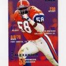 1995 Fleer Football #105 Elijah Alexander - Denver Broncos