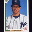 1991 Upper Deck Baseball #750 Scott Sanderson - New York Yankees