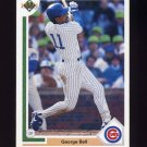 1991 Upper Deck Baseball #742 George Bell - Chicago Cubs